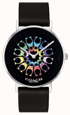 Coach | orologio da donna perry | quadrante nero cinturino in pelle nera | 14503289