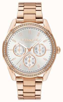 Coach | orologio preston | acciaio inossidabile cronografo oro rosa | 14503267