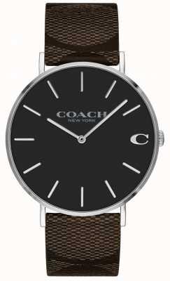 Coach | orologio da uomo charles | cinturino in pelle marrone | 14602156