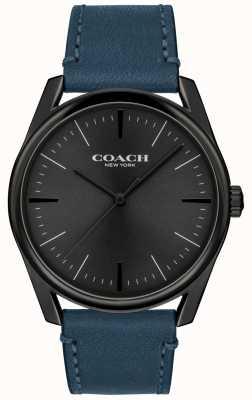Coach | orologio da uomo di lusso moderno | cinturino in pelle blu | 14602399