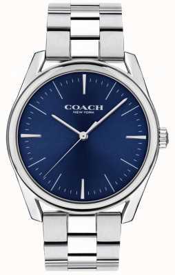 Coach | orologio da uomo di lusso moderno | quadrante blu in acciaio inossidabile 14602401