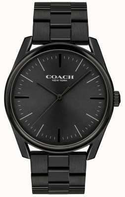 Coach Mens moderno di lusso in acciaio inossidabile nero 14602403