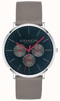 Coach   orologio da uomo varick   quadrante nero cinturino cronografo beige   14602390