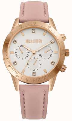 Missguided | orologio da donna | cinturino in pelle rosa | MG004PRG