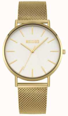 Missguided | maglia in acciaio oro da donna | quadrante bianco | MG016GM