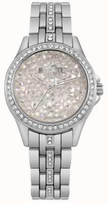 Missguided | orologio da donna in acciaio inossidabile | quadrante in pietra argentata | MG013SM