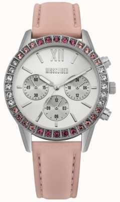 Missguided | orologio da donna | cinturino in pelle rosa | MG015P