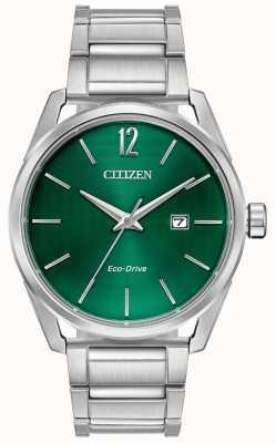 Citizen Bracciale da uomo eco-drive in metallo quadrante verde BM7410-51X