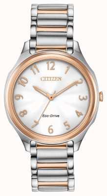 Citizen Bracciale in metallo bicolore eco-drive da donna EM0756-53A