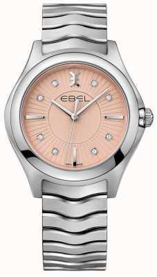 EBEL Quadrante rosa con cinturino in acciaio inossidabile ondulato 1216303