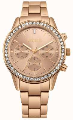 Missguided | acciaio inossidabile da donna in oro rosa | cronografo MG002RGM
