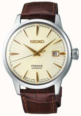 Seiko | uomo | presagio | automatico | cinturino in pelle marrone | SRPC99J1