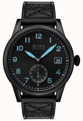 Hugo Boss | mens legacy nero | acciaio inossidabile nero | 1513672