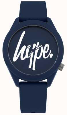 Hype | cinturino in silicone blu da uomo | quadrante blu e bianco | HYG001U
