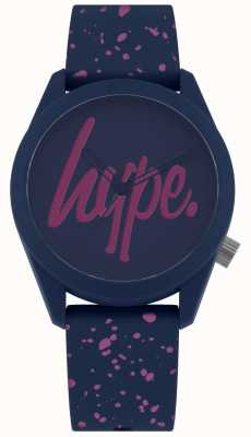 Hype | cinturino in silicone vernice viola navy donna | quadrante blu / viola HYL001UP