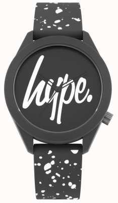 Hype | cinturino in silicone bianco e grigio da uomo | quadrante grigio | HYG003BW