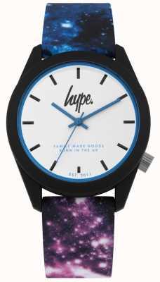 Hype | silicone stampa galassia blu e viola | ex-Display HYU009BV Ex-Display