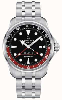 Certina | azione ds | gmt powermatic 80 | quadrante nero | C0324291105100