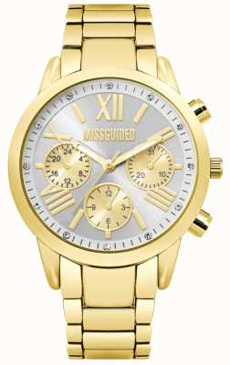 Missguided | orologio cronografo da donna in oro | MG008GM