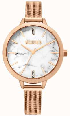 Missguided | orologio da donna in oro rosa con maglie | MG011RGM