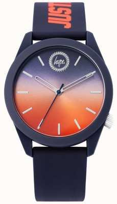 Hype | orologio da uomo in silicone blu | quadrante due toni | HYU020UO