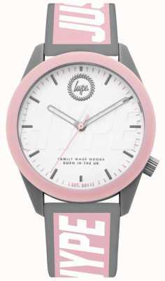 Hype | orologio da donna | cinturino in silicone grigio e rosa | HYL018PW