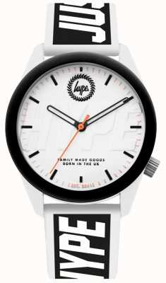 Hype | orologio da uomo | cinturino in silicone bianco e nero | HYU018BW