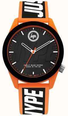 Hype | orologio da uomo | cinturino in silicone arancione e nero | HYG018BO