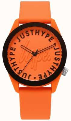 Hype | orologio da uomo | cinturino in silicone arancione | quadrante arancione | HYU023O