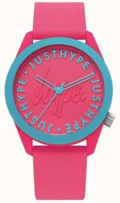 Hype | orologio da donna | cinturino in silicone rosa brillante | HYL023P
