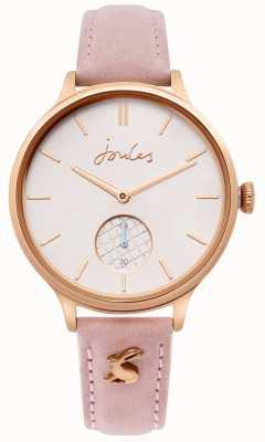 Joules | cinturino in pelle rosa da donna | cassa in oro rosa | JSL014PRG