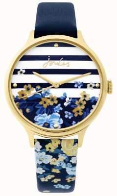 Joules | orologio da donna | cinturino con stampa floreale blu navy | JSL015UG