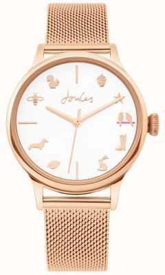 Joules | orologio da donna | cinturino in maglia oro rosa | quadrante bianco | JSL011RGM