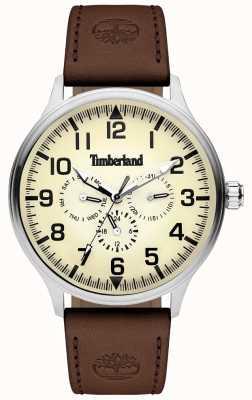 Timberland | mens blanchard | cinturino in pelle marrone | quadrante color crema | 15270JS/14