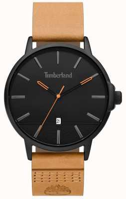 Timberland | mens rollinsford | cinturino in pelle marrone | quadrante nero | 15637JYB/02