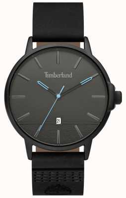 Timberland | mens rollinsford | cinturino in pelle nera | quadrante nero | 15637JYB/13