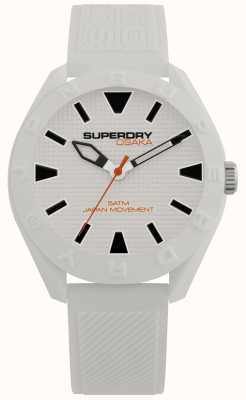 Superdry | osaka | quadrante bianco opaco | cinturino bianco strutturato SYG243W