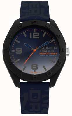 Superdry | osaka | cinturino in silicone blu camo | quadrante blu | SYG242U