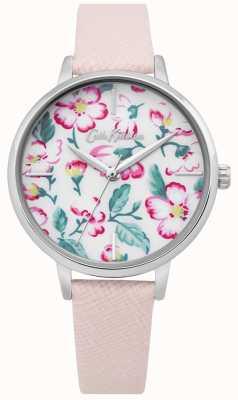 Cath Kidston | orologio fiore rampicante da donna | pelle rosa | quadrante floreale CKL069P