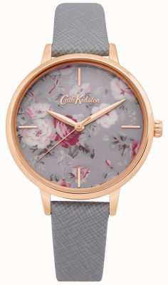 Cath Kidston | orologio da donna brampton bunch | cinturino in pelle grigia | CKL069ERG
