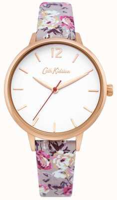 Cath Kidston | orologio da giardino da donna | quadrante bianco | cinturino in pelle floreale | CKL067ERG