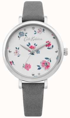 Cath Kidston | orologio da donna brampton ditsy | cinturino in pelle grigia | CKL079E
