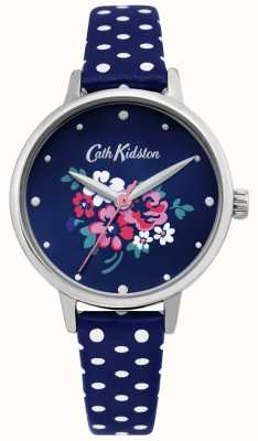Cath Kidston | womens lucky bunch watch | pelle blu a pois | CKL070U