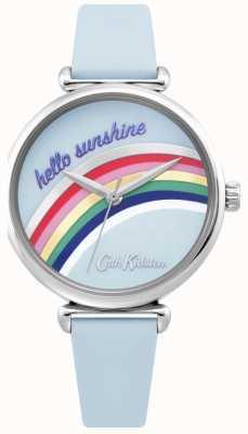 Cath Kidston | orologio da donna arcobaleno | cinturino in pelle blu | quadrante arcobaleno | CKL081U