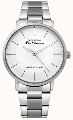 Ben Sherman | orologio da uomo | bracciale in acciaio inossidabile | quadrante bianco BS014SM