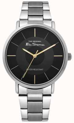 Ben Sherman | orologio da uomo | bracciale in acciaio inossidabile | quadrante nero BS014BSM