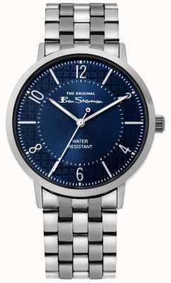 Ben Sherman | orologio da uomo | bracciale in acciaio inossidabile | quadrante blu BS018USM