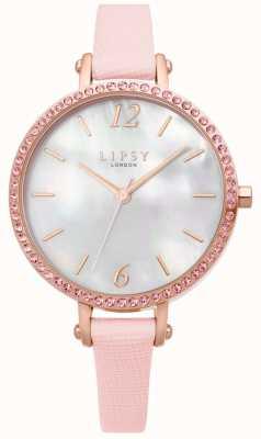 Lipsy | cinturino in pelle rosa da donna | quadrante bianco | LP650