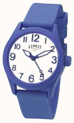 Limit | cinturino in silicone blu | quadrante bianco | 5719