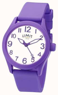 Limit | cinturino in silicone viola | quadrante bianco | 5722